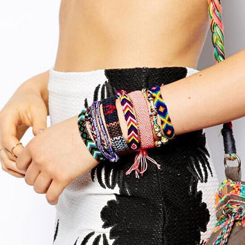 New fashion jewelry Bohemian style Weave charm friendship bracelet for women girl lovers'
