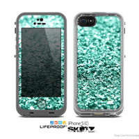The Tiffany Green Glimmer Skin for the Apple iPhone 5c LifeProof Case