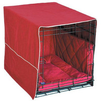 """Pet Dreams Classic Cratewear Dog Crate Cover Extra Large Burgundy 42"""" x 28"""""""