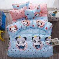New bedding sets Love home style spring rainy season pillowcase bed sheet duvet cover 3/4pcs Twin full Queen soft comfortable