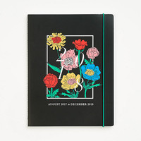 2017-2018 Monthly Black Floral Planner