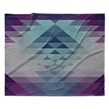 "Nika Martinez ""Hipster Girl"" Blue Lavender Fleece Throw Blanket"