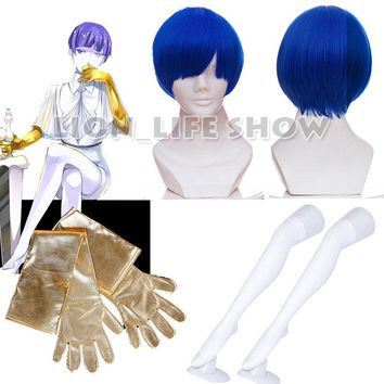 Japanese anime Land of the Lustrous Houseki no Kuni Lapis lazuli gloves Moon landing equipment Phosphophyllite Cosplay wig prop