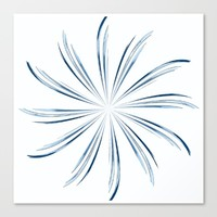Steel Blue Star Canvas Print by Moonshine Paradise