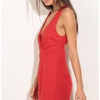 Party dresses > Wrap Up Dress In Red