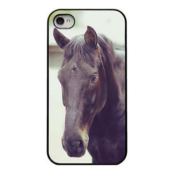 Horse Iphone case - girly Iphone cover - Iphone case for the horse lover - equestrian - rustic - horse - animal - unique Iphone case