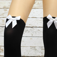 Soft Micro ribbon Knee high socks- socks women knee  Socks  -socks - knee high socks legwarmers socks