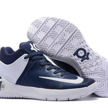 HCXX N307 Nike Zoom KD Trey 5 iv Low Actual Basketball Shoes Dark Blue