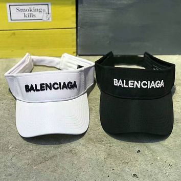 Balenciaga street street fashion embroidery LOGO visor tennis cap without overhead cap F-Great Me Store