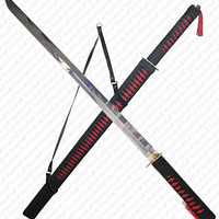 RED - BLACK Ninja Sword - 37 inch