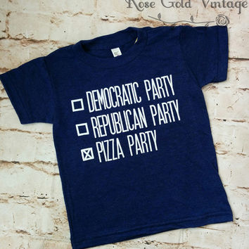 Pizza Party Political Tee ( Adult )