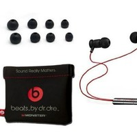 Official Monster Beats By Dr. Dre 3.5mm In ear/earbuds Stereo Headset for HTC Red (Discontinued by Manufacturer)