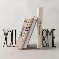 Molly Hatch You & Me Bookends in Black & White Size: Set Of 2 Bookends