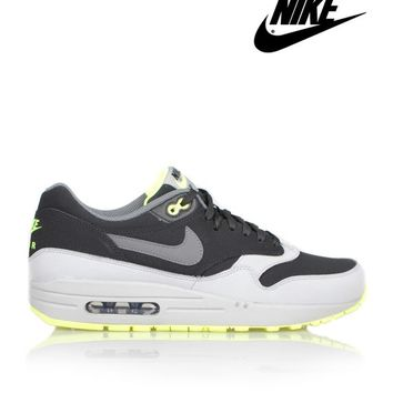 NIKEAIR MAX 1 LEATHER - GREY/BLACK/VOLT