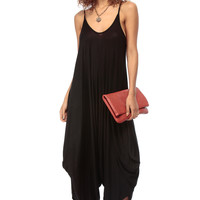 Black Over Sized Harem Jumpsuit