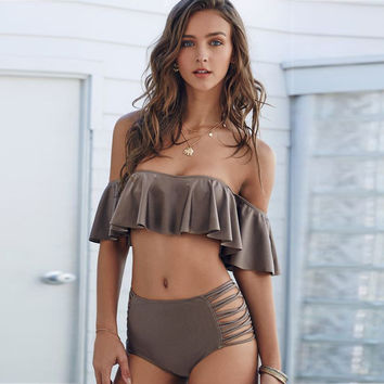 Hot Summer Beach New Arrival Swimsuit Sexy Bra Swimwear Ruffle Bikini [9703277002]