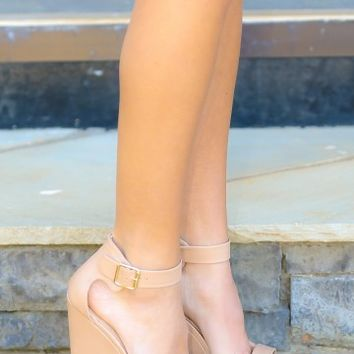 Elevate Me Wedge-Nude