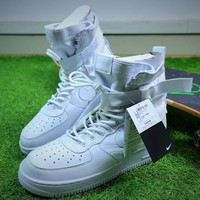 Nike Special Forces Air Force 1 SF AF1 Boots All White Shoes Sneaker - Sale