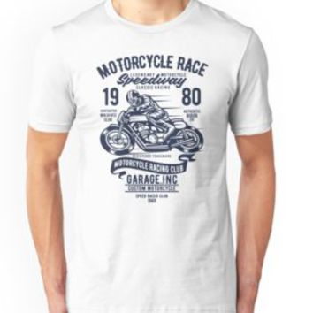 'MOTORCYCLE SPEEDWAY' T-Shirt by Super3