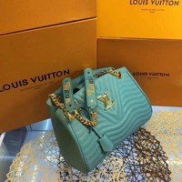 QIYIF L035 Louis Vuitton LV Corrugated handbag 32-22-13cm Blue