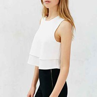 Cooperative Double Layer Swing Tank Top-
