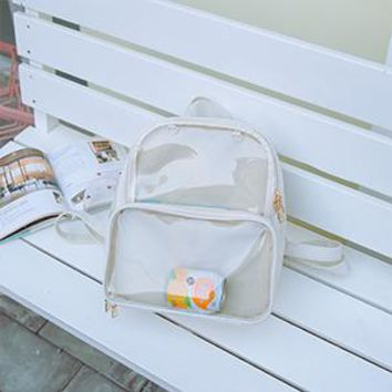Clear Backpacks popular Cute Clear Transparent Women Backpacks PVC Jelly Color Student Schoolbags Fashion Ita Teenage Girls Bags For School Backpack New AT_62_4
