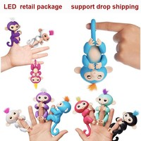 LED Fingerlings Unicorn Interactive Baby Monkeys Smart Fingers Llings Smart Induction Toys Best Gifts For Kids finger PLAYFUL