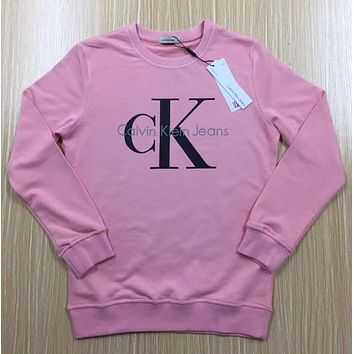 """""""Calvin Klein"""" Printed Womens Casual Long Sleeve Pullovers Sweaters"""