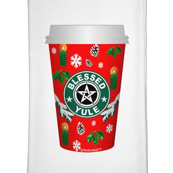 Blessed Yule Red Coffee Cup Flour Sack Dish Towels by TooLoud