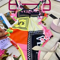 Versace New fashion more print vest one piece bikini