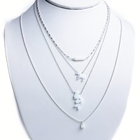 Opal Silver Aloha Bling Necklaces