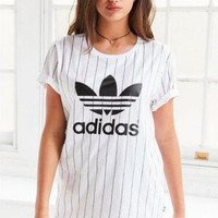 Adidas Fashion Simple Stripes Short Sleeve T-Shirt Top Tee