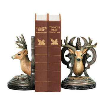 Sterling Industries 91-2035 Pair Deer Head Bookends