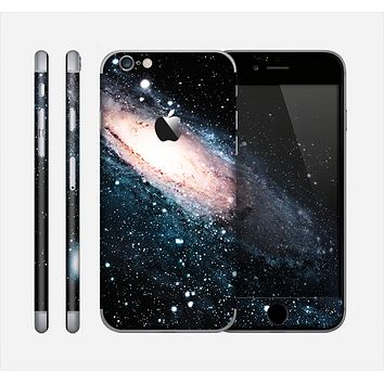 The Swirling Glowing Starry Galaxy Skin for the Apple iPhone 6