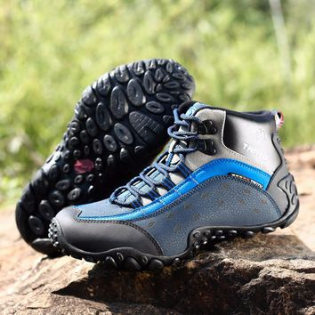Tourism Hiking Shoes Camping Boots Leather Men's Shoes Breathable Outdoor Trekking Man Mountain Walking Sneakers Climbing Men