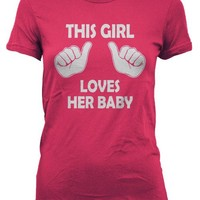 This Girl Loves Her Baby Maternity Shirt