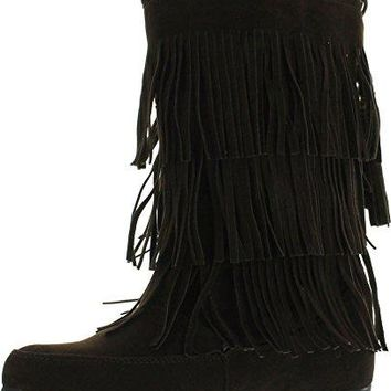 Women's Lima Suede Fringe Moccasin Boots