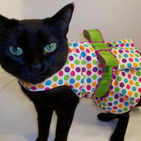 FREE SHIPPING CoolCats Multicolor Polkadot Cat Dress