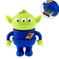 16GB Little Green Man Cartoon USB 2.0 Flash Drive U Disk