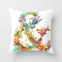 Land of Ampersand Throw Pillow by Katie Daisy