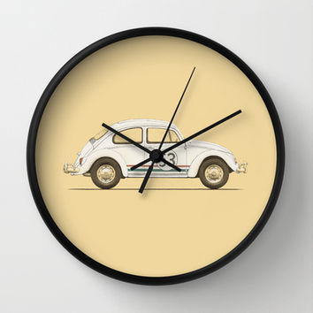 Famous Car #4 - Herbie's 1963 VW Beetle Wall Clock by Speakerine / Florent Bodart