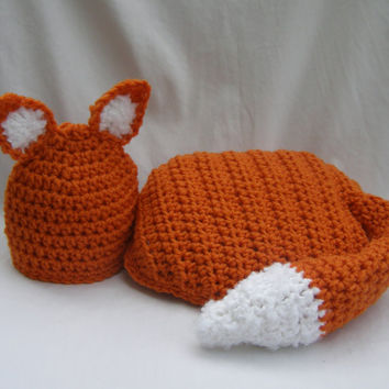 Fox Hat & Cape Photo Prop Newborn by MySweetPotato3 on Etsy