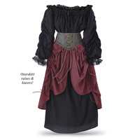 Two Piece Peasant Ensemble - New Age, Spiritual Gifts, Yoga, Wicca, Gothic, Reiki, Celtic, Crystal, Tarot at Pyramid Collection