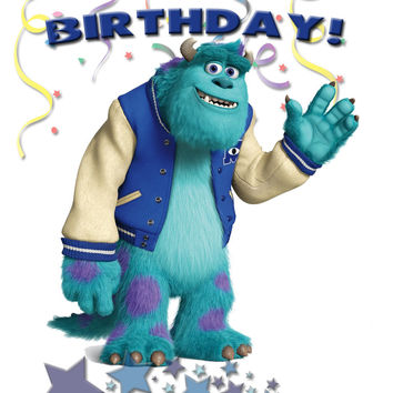 Personalized Custom Birthday T-shirt Disney Monsters Inc University Sulley