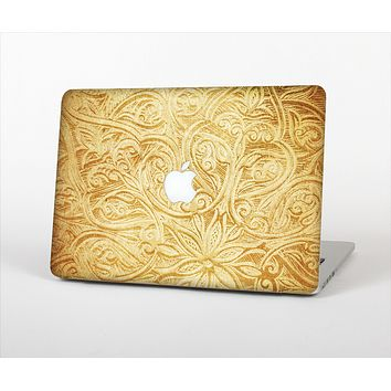 The Vintage Antique Gold Grunge Pattern Skin Set for the Apple MacBook Air 11""