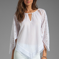 BCBGMAXAZRIA Long Sleeve Tunic in White from REVOLVEclothing.com