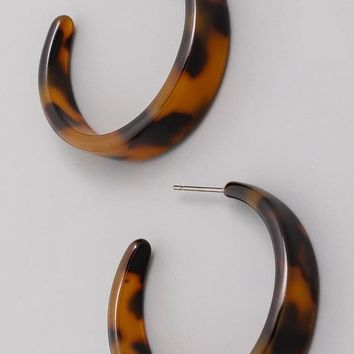 """Tortoise Shell"" Earrings"