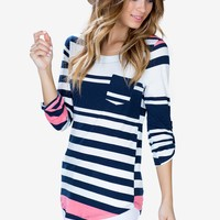 Mega Multi Stripe Boatneck