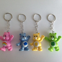 Care Bears Keychain - PICK YOUR BEAR - re-purposed toys