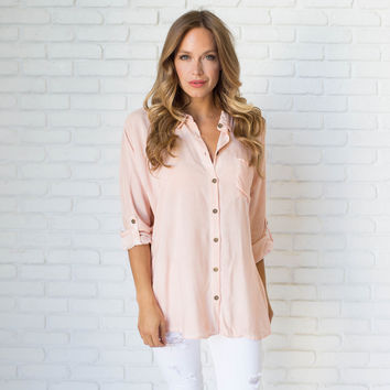 Pretty Lady Blouse In Blush Pink